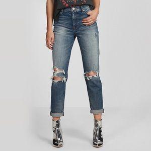 NWOT Express High Rise Original Girlfriend Jeans